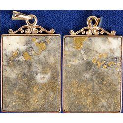 Polished Gold in Quartz Pendant