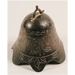 Antique brass table bell or gong