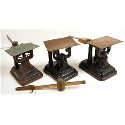 Trio of Fairbanks Postal Scales