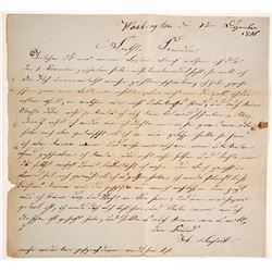1836 Letter in German from Washington