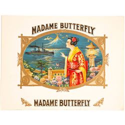 Madame Butterfly Cigar Box Label