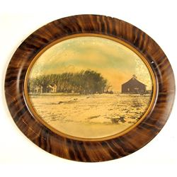 Oval Landscape Photograph