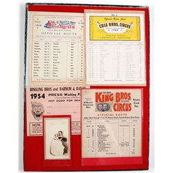 Route Cards of Circus Travels
