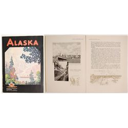 Alaska Steamship Line Book with Map