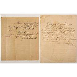 Rare Arizona Town letters