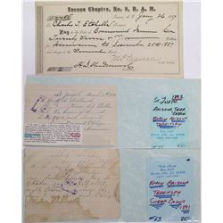 Three Territorial Arizona Checks / Drafts