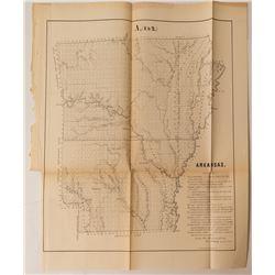 1855 Arkansas Map