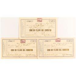 Chino Odd Fellow Hall Assoc. Stock Certificates