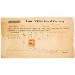 Cold Spring Receipt for Taxes
