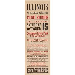 Illinois Picnic Reunion Broadside