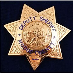 Modoc County, CA Deputy Sheriff Badge