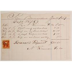 Receipt for Capt. Wilks, San Bernardino