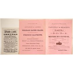 Advertisements for Getleson & Landis Leather