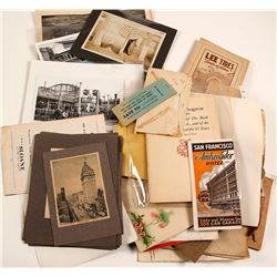Large San Francisco Photo and Ephemera Collection