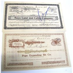 Two San Francisco Stock Certificates