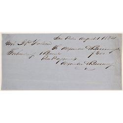 Alexander & Banning Receipt, San Pedro