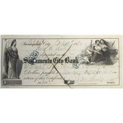Sacramento City Bank Certificate of Deposit, 1854