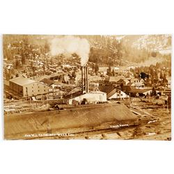 Weed Lumber Mill Real Photo Postcard