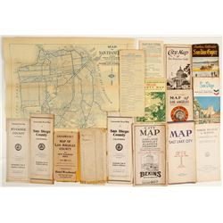 Vintage California Map Assortment