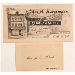 2 Old Calif. Business Cards