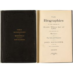 Rare Biographical Work on John Alexander