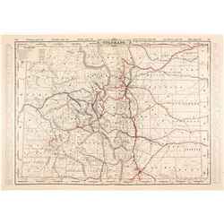 1862 Map of Colorado Territory