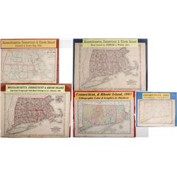 Maps of Massachusetts and Connecticut Area