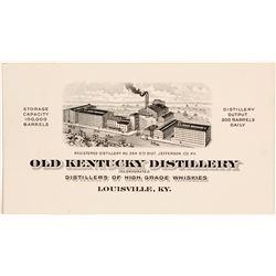 Old Kentucky Distillery Business Card