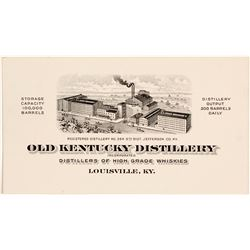 Old Kentucky Distillery Business Card