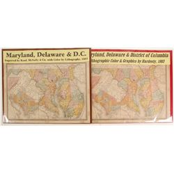 Maps of Maryland, Delaware & D.C.