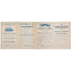 c.1870s Advertising Pamphlet for Pacific Mail Steam Ship Company