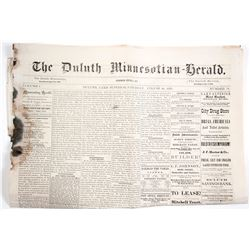 1876 Duluth Newspaper