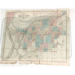 Wright's Printed Folded map of Kansas City