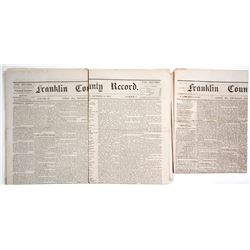 Rare Union Missouri Newspapers, 1874-5