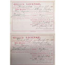 Two Bozeman, Montana Merchant Licenses