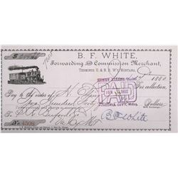 B.F. White, Terminus of U&N Railway, Montana Check