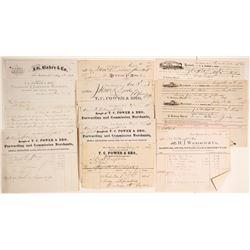 Fort Benton Letters, Receipts & Correspondence