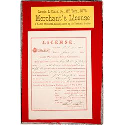 Lewis & Clark Co., Montana Territory License