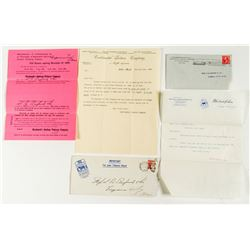 Two Advertising Envelopes w/ Letters from Tobacco Companies