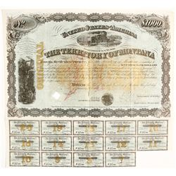 Gorgeous 1880 Montana Territorial Bond signed by Governor (and Civil War General) B.F. Potts