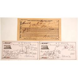 Montana Territory Bill of Lading and 2 Checks
