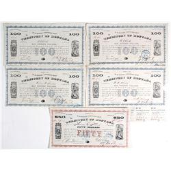 Montana Territory Bonds (5)