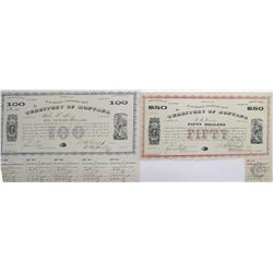Two Montana Territory Warrants ($50 & $100)