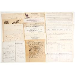 Montana Towns, Bills of Lading, Letters