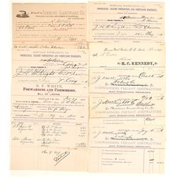Terminus North Pacific Railroad Bills of Lading, & Receipts