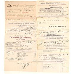 Terminus North Pacific Railroad Bills of Lading, & Receipts