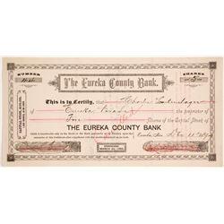 Eureka County Bank Stock Certificate