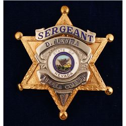 Eureka County, NV Sergeant Badge