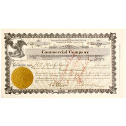 Commercial Company, McGill,NV Stock Certificate #1