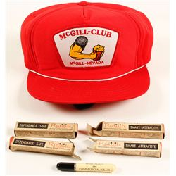 McGill Club Baseball Cap and 4 NIB Promo Lighters